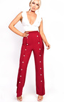 Leena Popper Slim Leg Trousers Thumbnail