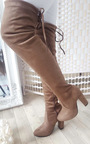 Lakenya Faux Suede Knee High Boots Thumbnail