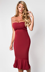 Brianna Frill Midi Dress  Thumbnail