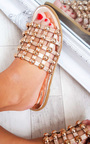 Luisa Studded Caged Open Toe Sliders Thumbnail