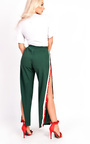 Erika Popper Legged Stripe Trousers Thumbnail
