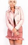 Leyla Biker Faux Leather Jacket Thumbnail