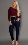 Amarli High Waisted Skinny Jeans Thumbnail