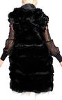 Karla Faux Fur Hooded Waistcoat Thumbnail