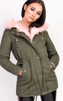 Sylvia Padded Faux Fur Hooded Jacket Thumbnail
