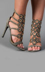 Brooklyn Circle Detail High Heels Thumbnail