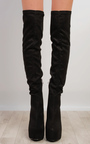 Narelle Faux Suede Knee High Boots Thumbnail