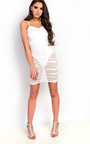 Ariel Mesh Ruched Mini Dress Thumbnail