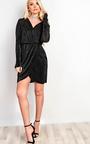 Liliana Pleated Plunge Dress Thumbnail