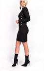 Priscilla High Neck Button Longline Jumper Dress Thumbnail