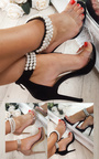 Jasmine Pearl Ankle Barely There Heels Thumbnail