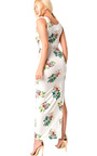 Sierra Bodycon Floral Zip Side Maxi Dress Thumbnail
