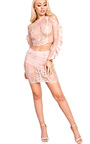 Zadie Cold Shoulder Lace Co-ord Thumbnail