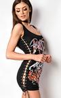 Kimye Eyelet Lace Up Vest Dress Thumbnail
