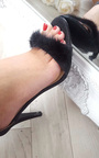Shola Glitter Fluffy High Heels  Thumbnail