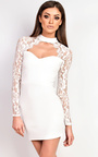 Luisa Lace Choker Neck Bodycon Dress Thumbnail