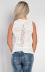 Trish Lace Back Chiffon Vest Top Thumbnail