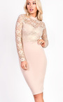 Pixie Midi Long Sleeve Lace Dress Thumbnail