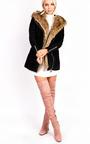 Zoey Faux Suede Fur Longline Jacket Thumbnail