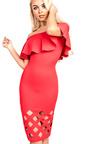 Samanthia Lasercut Off Shoulder Bodycon Dress Thumbnail