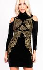 Kassy Sequin Baroque Velvet Dress Thumbnail