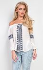 Harding Embroidered Off Shoulder Top Thumbnail