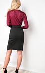 Sharlie Asymmetric Shimmer Dress Thumbnail
