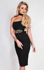 Pavla Choker Neck Bodycon Dress Thumbnail