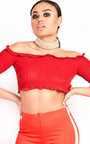 Brianna Ribbed Long Sleeved Crop Top Thumbnail