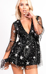 Lexie Plunge Sequin Playsuit Thumbnail