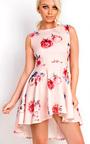 Annaleise Floral Dip Hem Skater Dress Thumbnail