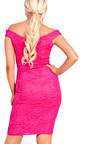 Jenni Lace Bardot Midi Dress Thumbnail
