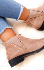 Keir Studded Chelsea Faux Suede Ankle Boots Thumbnail