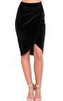 Ruby Velour Asymmetric Skirt  Thumbnail