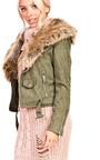 Brienna Faux Fur Suede Biker Jacket Thumbnail