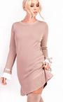 Cecelia Pleated Sleeves Longline Jumper Dress Thumbnail