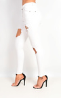 Zelli Mid Rise Ripped Skinny Jeans Thumbnail