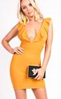Eliza Frill Sleeved Mini Dress Thumbnail