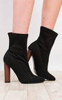 Naomi Faux Suede Heeled Boots  Thumbnail