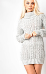 Addison High Neck Knit Dress Thumbnail