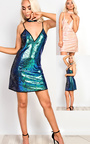 Shellie Sequin Shift Dress Thumbnail