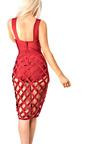 Rose Cut Out Bandage Bodycon Dress Thumbnail