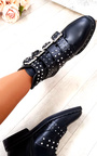Aria Studded Buckle Ankle Boots  Thumbnail