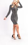 Alex Slinky Cut Out Bodycon Dress Thumbnail
