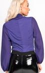 Catriona Plunge Cowl Neck Bodysuit Thumbnail
