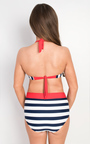 Litton Striped High Waisted Bikini Thumbnail