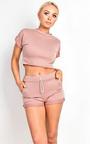 Cacelia Crop Co-ord Loungewear Set Thumbnail