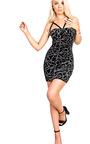 Brandy Velour Bodycon Dress Thumbnail