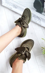 Robyn Satin Bow Trainers Thumbnail