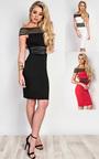 Ivette Stripe Detail Midi Dress Thumbnail
